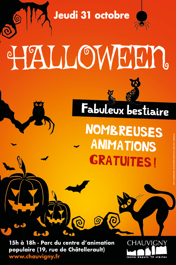 Chauvigny halloween flyer 10x15 recto